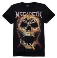 New 2014 designer shirts for men 3d t shirts brand  man tshirts causal Skull pattern novelty t shirt  20 style  tops tee
