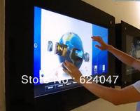 "Dual touch  Transparent 17"" interactive touch foil for shop window advertising, trade show ,  Free Fast delivery"