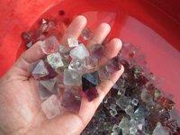 100g lot of  Natural Fluorite Crystal Octahedrons Rock Specimen China R176.100