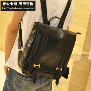 Pu vintage school bag boys fashion preppy style student backpack bag travel backpack girls