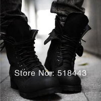 Free shipping discount Autumn and winter fashion high-top casual shoes male shoes the trend of high boots casual shoes black