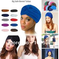 Big Satin Bonnet Turban,Muslim head cap,India's hat,ear pullover covering cap  turban hat hip-hop dance party winter hat