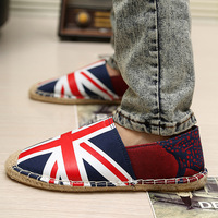 Free shipping discount Cotton-made casual shoes 2013 stripe canvas shoes straw braid cotton-made male shoes fashion shoes men's