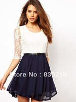Free Shipping  M233     European and American style lace dress women dress