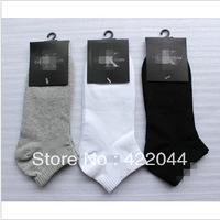 Free shipping (3colors) 100% cotton socks,Boat Socks ,Men's socks  10pairs/lot