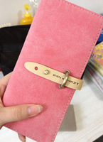 2013 Newest leather wallet women Long Korean cute fashion women dull polish wallet free shipping