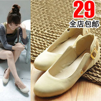 2013 single shoes gommini flat heel loafers flat boat shoes round toe four seasons shoes women's shoes plus size 40 - 43