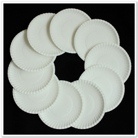 Disposable paper plates fistfight outdoor dish  for party 10pcs/packaging 100pcs/lot wholesale freeshipping