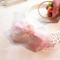 Sweet lolita princess Flower light pink dream flower handmade bow hairpin hair accessory