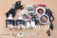 35W HID bixenon  projector lens,  headlight h4, with cnlight bulbs, shroud, ballasts, and harness