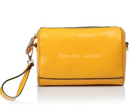 2013 Fashion Real Genuine Leather Designer Brand women Evening Day Clutches small bag handbag colorful candy color free shipping