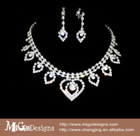 free shipping Migodesigns luxury Austria crystal element elegant gold filled heart shape woman jewelry set