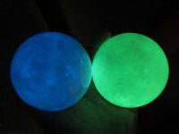 1360g (2.99 lb) Blue Green Glow White Jade Stone Glow In The Dark Ball China T070