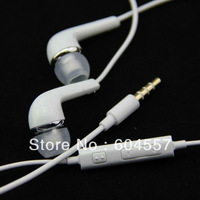 Wholesale Galaxy S4 Handsfree Headphones With Volume&Mic Earphone For Samsung Galaxy S4 I9500 I9300 I9220 N7100 10pcs/lot