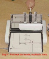 Saddle and Flat Booklet Maker Making Machine with paper folding function A3 size