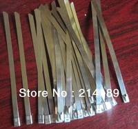"""50PCS / lot 4.6x300mm 12"""" Stainless Steel Exhaust Wrap Coated Locking Cable Zip Ties"""