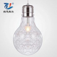 Personalized single end bulb glass pendant light modern brief fashion lighting Free Shipping