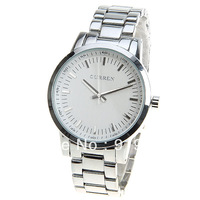 Curren Men's Watch Strips Indicate with Round Dial Steel Watch Watchband