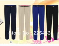 2013 Summer and autumn british style casual chiffon trousers pants knitted pants female pencil pants