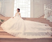 2013 Women's New Arrival Long Train Lace Embroidery Wedding Gowns