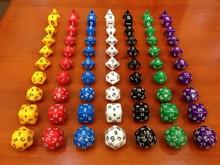 Dungeons and Dragons Game 16-25MM D4 D6 D8 D10 D12 D20 D24 D30 Crystal Dice for Game D&D dice set with bag(10pcs one set)(China (Mainland))