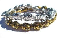 AB-013 Buddha Head Charm  Bracelet Yoga Bracelet Mala Meditation Eternity Bracelet