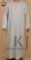 Wholesale Retail Islamic clothing men's clothing collarless  -Free shipping