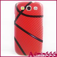 2013 New Fashion Beautiful Simulation Baskeball Hard Plastic Case Cover For Samsung Galaxy S3 SIII S 3 i9300 9300 Case