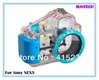 Free shipping Best quality underwater 40M waterproof camera case for Sony NEX 5 short shot(16mm)