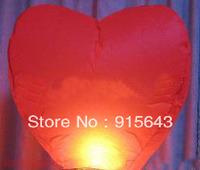 wholesale Red Heart Chinese Fire Sky Lanterns Wishing Balloon Birthday Christmas weeding 300pcs/package  wish lanterns wedding