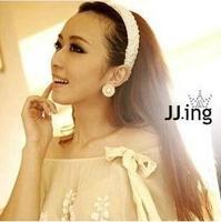 Fs227 hair accessory pearl hair bands the bride wedding hair accessory handmade white beaded hair accessory wide headband