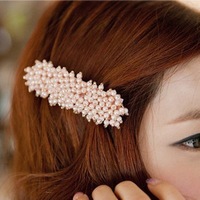 Fs151 hair accessory korean vintage sweet girls broken beads hairpin 12g