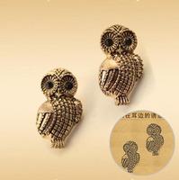 Eh276 fashion brief elegant fashion accessories jewelry vintage owl stud earring