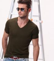Free Shipping Man T-shirt Base Shirts Fashion Active Style Skin-close Soft Cotton Men shirts