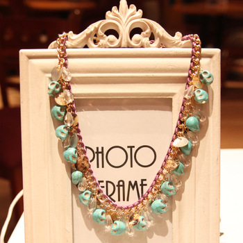 Fashion necklace female skull accessories