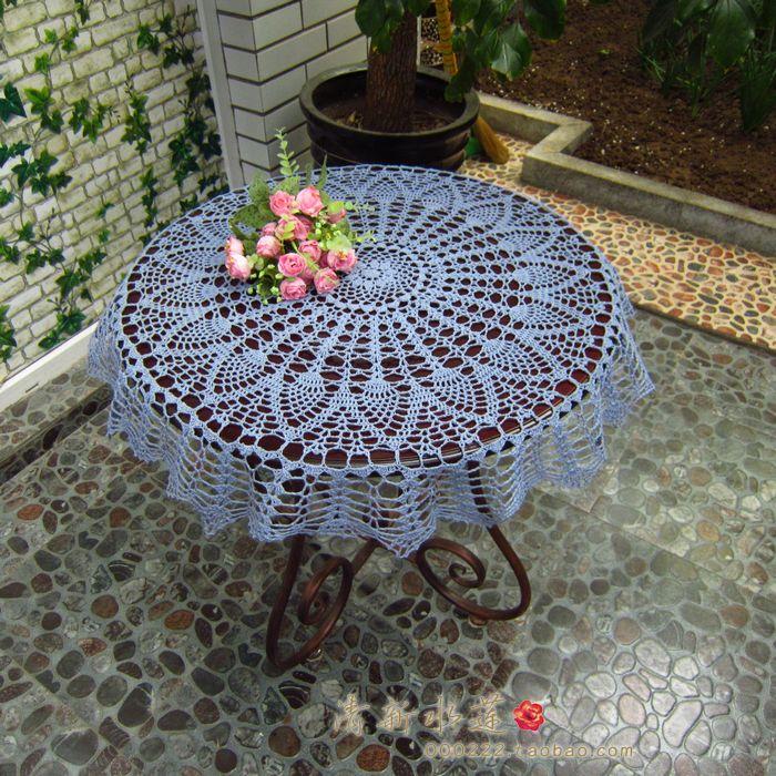 Круглые скатерти на стол вязанные крючком