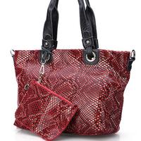 New female 2014 genuine leather big patchwork elegant tassel cross body handbag fashion color block shoulder bags 445-48