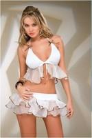 The new 2013 sexy  white skirt lotus leaf laciness bikinis25 4182