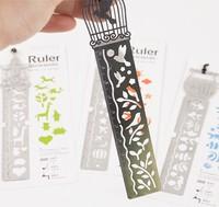 free shipping Bookzzicard multifunctional metal bookmark ruler 4