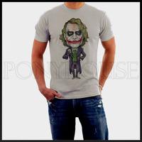 THE  Joker clown  red lips Batman  T-shirt cotton Lycra top