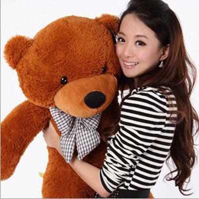 Popular High Quality 100CM Plush Toy Teddy Bear 1M Big Embrace Bear Doll Christmas Birthday Gift Valentine Gift(China (Mainland))