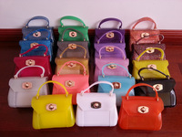 2014 New Women's  Free Shipping 15 Colors Mini Candy Color Jelly Bags Sweet Shoulder Hand Bags