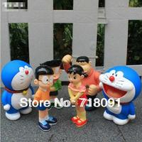 Drop Free Shipping,PVC Action Prototype,Toy Doraemon Models,Garage Kit,10-12cm,Family Sets,6PCS/LOT