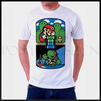 Super Mario Teenage Mutant Ninja Turtles Game  T-shirt cotton Lycra top