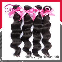 5A unprocessed Queens virgin Brazilian hair loose wave 3 or 4 bundles natural color brazilian human hair extensions