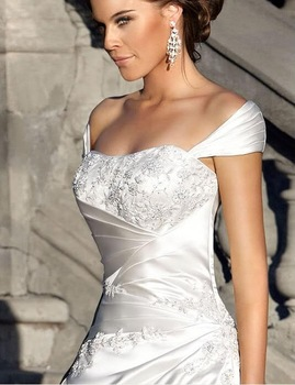 2013New white/ivory wedding dress custom size 2-4-6-8-10-12-14-16-18-20-22+++