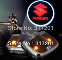 Free ship!SUZUKI Jimny/GRAND VITARA Car LED welcome door LOGO light,12V Pls tell your car name+year!)