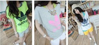 2013 shampooers all-match fashion letter twinset vest loose short-sleeve T-shirt female