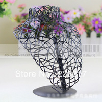 Free shipping H16.5*13.5cm Metal Portrait jewelry display stand necklace display stand holder rock bust display for necklace