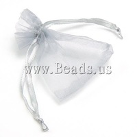 Free shipping!!!Jewelry Drawstring Bags,Cheap, Organza, translucent, silver, 70x90mm, 100PC/Bag, Sold By Bag